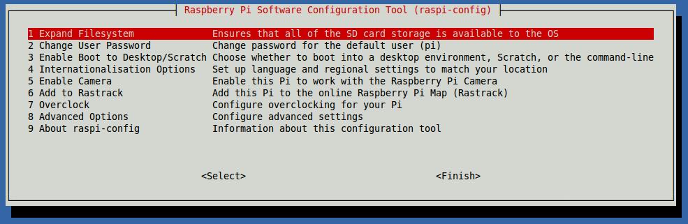 Raspberry Pi 2 Açılış Ekranı