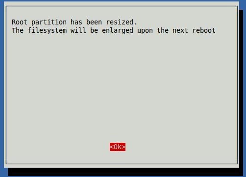 Raspberry Pi 2 Disk Genişletme Ekranı