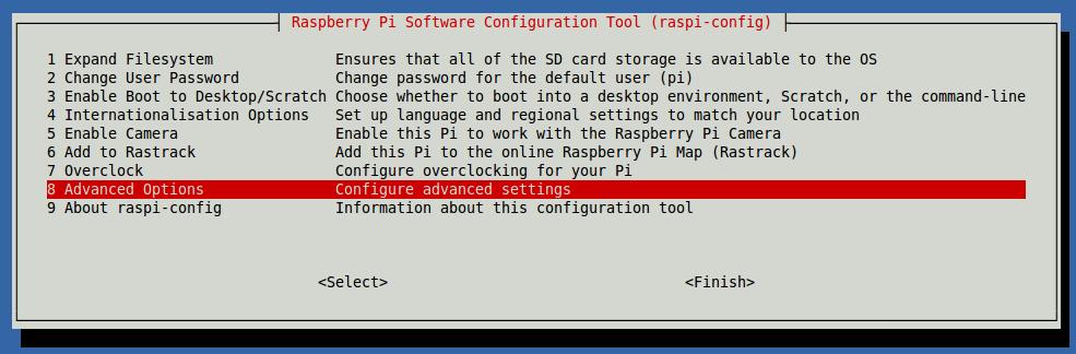 Raspberry Pi 2 Ayar Ekranı